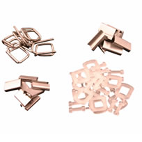 Seals and buckles for manual strapping applications
