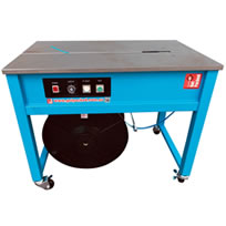 Open table semi automatic strapping machine