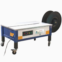 Semi Automatic Strapping Machine that has an open low table